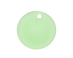Peridot Recycled Glass Concave Coin 24mm