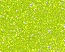 TOHO Aiko Transparent Lime Green Precision Cylinder 11/0 Seed Bead