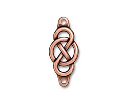 TierraCast Antique Copper (plated) Infinity Centerpiece Link 35x15mm