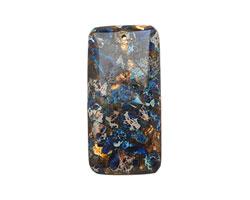 Midnight Blue Impression Jasper & Bronzite Rectangle Pendant 30x60mm