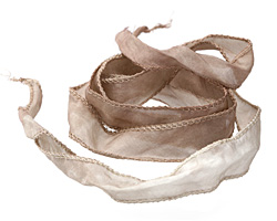Latte Silk Ribbon 20mm