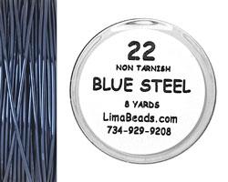 Parawire Blue Steel 22 Gauge, 8 Yards