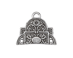 Zola Elements Antique Silver (plated) 2-1 Scrolled Focal Connector 29x35mm
