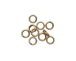 Antique Brass (plated) Split Jump Ring 5mm, 18 gauge