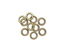 Antique Brass (plated) Soldered Jump Ring 6mm, 18 gauge