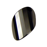 Onyx Faceted Twisted Oval 15x17mm