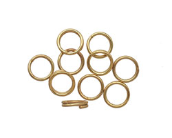 Satin Hamilton Gold (plated) Split Jump Ring 7mm, 21 gauge