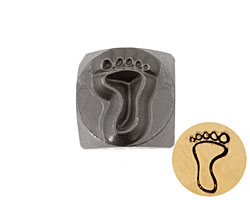 Left Foot Metal Stamp 6mm