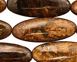 Bronzite Flat Oval 40x15mm