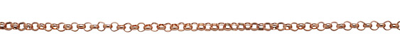 Rose Gold (plated) Rollo Chain