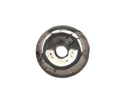 Golden Pyrite (silver tone) Mini Donut 10mm