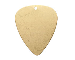Brass Guitar Pick Blank 26x31mm
