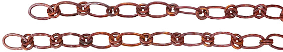 Patricia Healey Copper Large Oval Double Link Chain 23x14mm, 20""