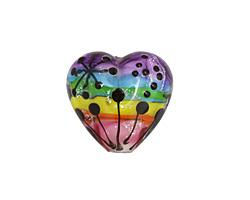 Grace Lampwork Rainbow Balloons Heart 18-20mm