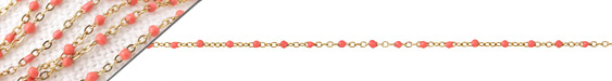 Gold (plated) Stainless Steel Coral Tiny Cable Chain