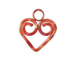 Patricia Healey Copper Spiral Heart 23x27mm
