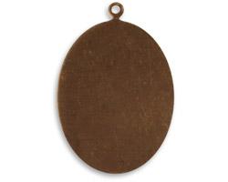 Vintaj Natural Brass Oval Altered Blank 24x34mm