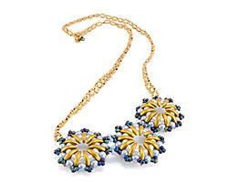Golden Horizons Necklace Pattern for CzechMates