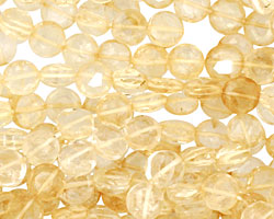 Citrine Faceted Coin 6-7mm