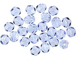 Czech Fire Polished Glass Light Sapphire Round 6mm