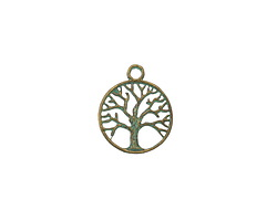 Zola Elements Patina Green Brass (plated) Tree of Life Charm 19x23mm