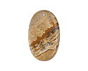 Picture Jasper Flat Oval Pendant 35x54mm