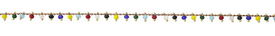 Zola Elements Multi Color Crystal Drops Brass Chain