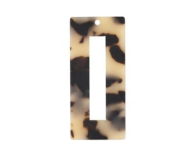 Zola Elements Light Tortoise Shell Matte Acetate Rectangle Donut 22x49mm