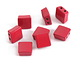 Red Enamel 2-Hole Tile Square Bead 8mm