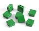 Kelly Green Enamel 2-Hole Tile Square Bead 8mm