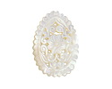 Mother of Pearl Floral Filigree Carved Teardrop Focal 25x35mm
