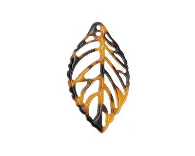 Zola Elements Tortoise Shell Acetate Openwork Leaf Focal 22x38mm