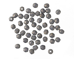 Czech Fire Polished Glass Pacifica Poppy Seed Round 2mm