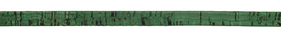 Grass Green Portuguese Cork Cord Flat 10mm