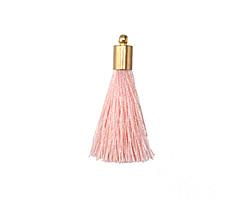 Blush Thread Tassel w/ Gold (plated) Tassel Cap 30mm