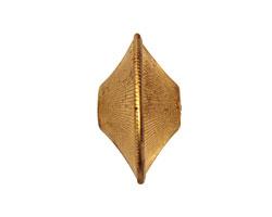 Brass Corrugated Saucer 14x24mm