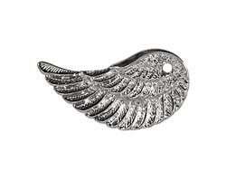 Silver (plated) Wing 17x32mm