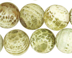Lime Fire Agate Round 16mm