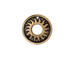 TierraCast Antique Gold (plated) Del Sol Ring 19mm