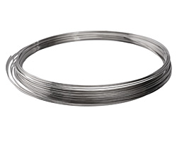 Stainless Steel Memory Wire Large Bright Necklace 1 oz.