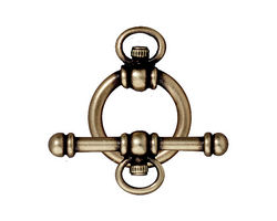 TierraCast Antique Brass (plated) Watch Toggle Clasp 16x22mm, 28mm bar