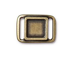TierraCast Antique Brass (plated) Frame Slide Link 24x17mm