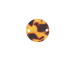 Zola Elements Tortoise Shell Matte Acetate Coin Link 14mm