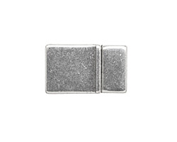 Antique Silver (plated) Tab Magnetic Clasp 21x12mm