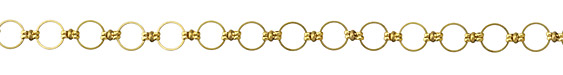 Zola Elements Brass Linked Ring Chain