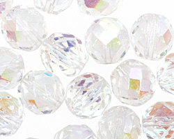 Czech Fire Polished Glass Crystal AB Round 12mm
