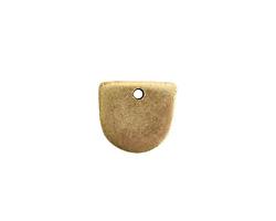 Nunn Design Antique Gold (plated) Flat Mini Half Oval Tag 13x14mm