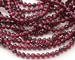 Garnet Faceted Round 3mm