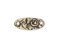 TierraCast Antique Brass (plated) Amor Bar Connector Link 22x9mm