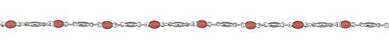 Zola Elements Briar Rose Oval Link Silver Finish Chain